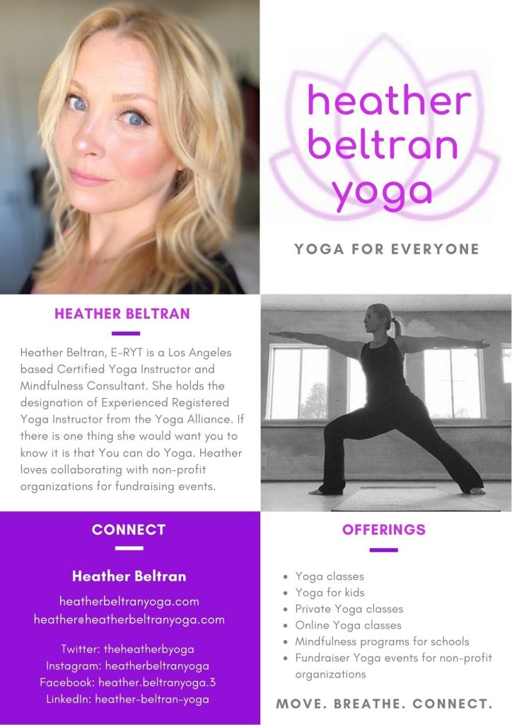 Heather Beltran Yoga Press Media