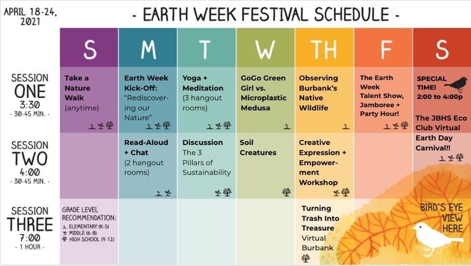 Earth Week Festival Schedule