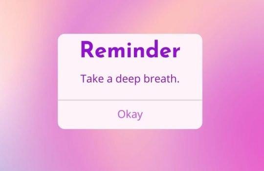 Let's start by taking a breath